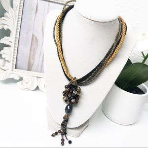 Chico's • Beaded Cluster Multi-strand Necklace